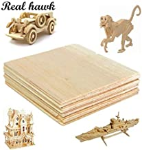 AAA+ Balsa Wood Sheet ply 100x100x3mm Model Balsa Wood Can be Used for Military Models etc Smooth DIY : 10pcs