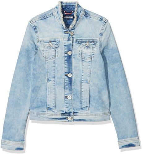 Tommy Hilfiger Mädchen Girls Denim Trucker Jacket CLPST Jacke, Blau (CALI Light Power Stretch 911), 164 (Herstellergröße: 14)