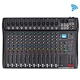 Depusheng Professional 12 Channel Bluetooth DJ Mixing Console Karaoke Amplifier Digital...