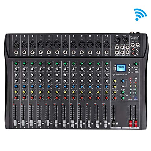 Cheapest Price! Depusheng Professional 12 Channel Bluetooth DJ Mixing Console Karaoke Amplifier Digi...