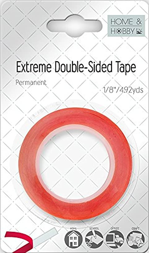 Home & Hobby Extreme Double-Sided Tape, 1/8-Inch-Set of 6