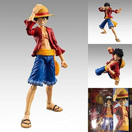 TELEPHNY One Piece 2 Years Later Luffy Movable Joint Doll Toy Collection Cartoon Character Model Statue Decoration, Children's Gifts 18cm