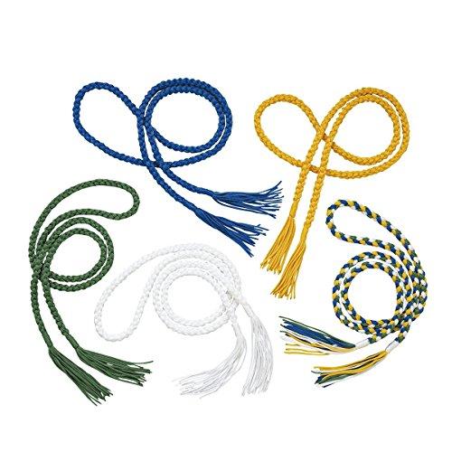 Geflechtener Capoeira-Gürtel Farbe Einheitsgröße vierfarbig