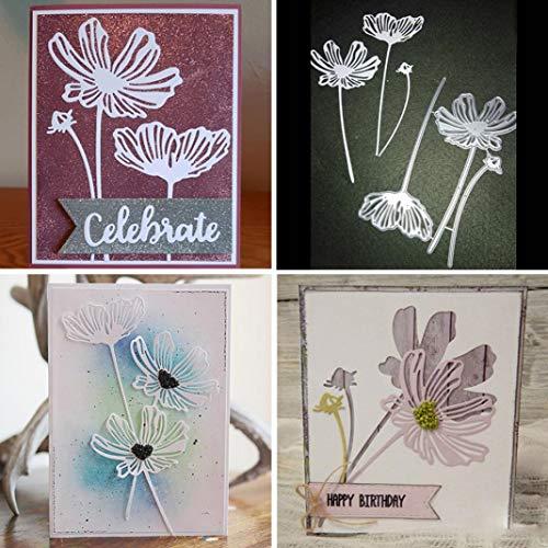 Mothcattl Stanzschablone, Blumen-Design, Metall, zum Basteln von Karten, zum Basteln, für Scrapbooks, Album, Papier, Karten, Dekoration.