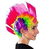 Rainbow Mohawk Wig - Groovy Rainbow Mohawk Wig Costume Accessory