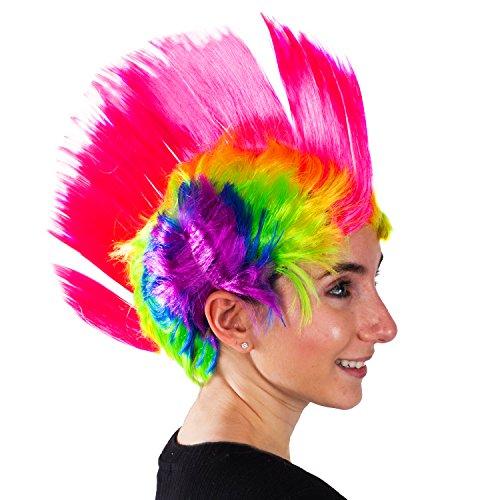 Rainbow Mohawk Wig for Adults Punk Costume