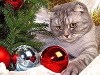パズル500ピース猫動物クリスマスプレゼント52x38cm