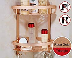 Aluminum Shower Storage Towel Bar Basket Shelf Rack Organiser