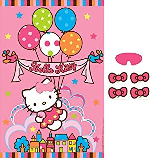 Hello Kitty Neon Tween Paper Tablecover Birthday Party Supplies