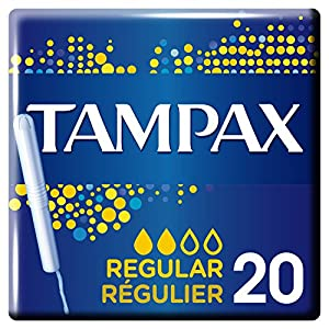 Tampax Regular Tampons with Plastic Applicator x 20