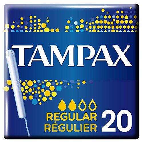 Tampax Regular Tampons mit Kunststoff-Applikator, 20Stück, Normalgröße