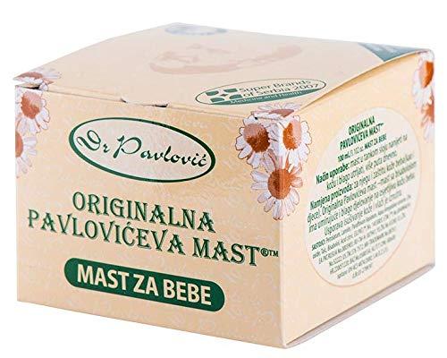 Grasa original de Pavlovic para bebés - para tratar el salpullido de pañales y asegurar la humedad y el cuidado de la piel seca del bebé, con adición de manzanilla 100 ml