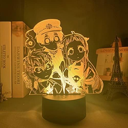 Acrílico Ilusión Luz De Noche Inteligente Luz Led 3D Baño De Anime Hana Zikun Personaje Decoración De Dormitorio Iluminación Luz De Neón Adecuado Para Amigos De Niños Cumpleaños Regalos De Navidad