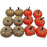 YIPON Calabazas artificiales para cosecha, mini calabazas falsas, accesorio para fotografía de otoño Acción de Gracias, boda, Halloween, Navidad