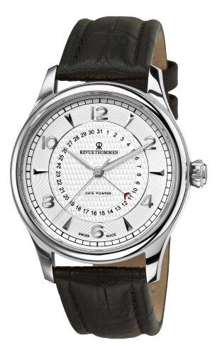 Revue Thommen Herren-Armbanduhr 10012-2532, XLarge Datumsanzeige Analoganzeige Schweizer Automatik Braun