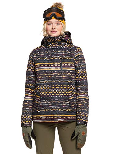 Roxy Damen Jetty-Snow Jacke, True Black New Geometric, L
