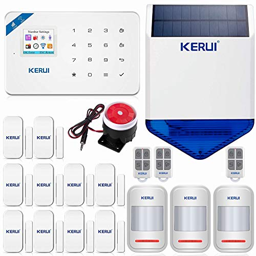 KERUI W18 Wireless WIFI+GSM Burglar Home Security Alarm System DIY Kit Auto...