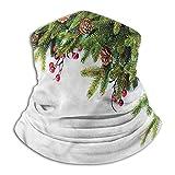 Calentador de Cuello Navidad para Hombres Mujeres Aire Libre/Festivales/Conos de Ramas de árboles Deportivos