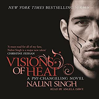 Visions of Heat     Psy-Changeling, Book 2              By:                                                                                                                                 Nalini Singh                               Narrated by:                                                                                                                                 Angela Dawe                      Length: 9 hrs and 42 mins     87 ratings     Overall 4.6