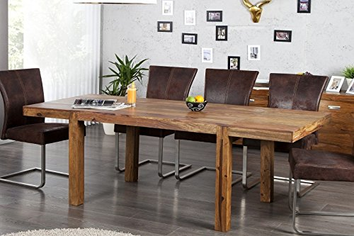DuNord Design Esstisch Arona Palisander Massiv Holz Tisch verlängerbar bis 200cm Esszimmer
