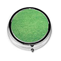 緑の芝生 ピルケース 薬ケース 習慣薬箱 薬入れ オシャレ 3仕切り個別保管 防水 携帯用 軽量 小型収納ケース