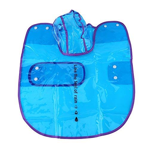 Huisdier Regenjas, Waterdicht Transparant Jas Hond Hood Poncho Outdoor Regenjas Blue L