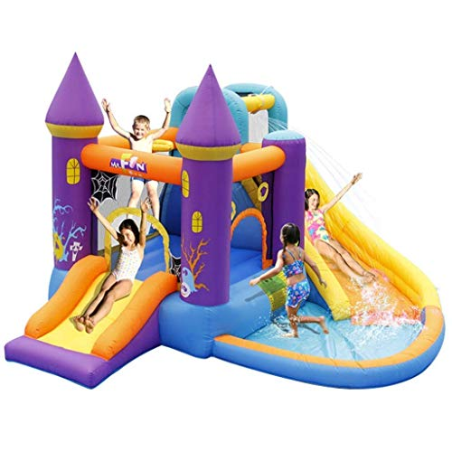 WRJY Kid Baby Toys Children's Inflatable Castle Indoor Small Household Slide Children's Inflatable Trampoline Children's Trampoline Square Toy for Indoor and Outdoor