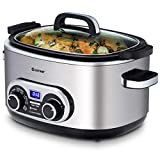 COSTWAY 7-in-1 Multi-Cooker, Auto Warm for 12 Hours Timer, 5.6 L Capacity...