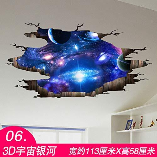 MEIWALL Dormitorio 3D Póster caliente estrellado galaxia cósmica Pegatinas de pared extraíble para del dormitorio de la de la cocina Sala de niños Decoración del arte de la pared calcomanía