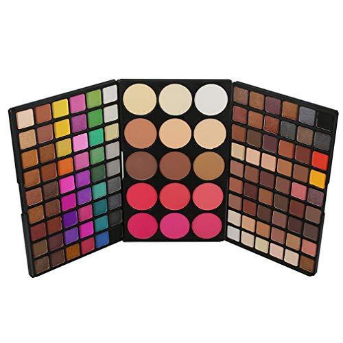 123 Farben Lidschatten Palette MakeUp Kosmetik Etui Box Satte Farben Augenschatten Pulver MakeUp Kit mit Blush Rouge für den Profi und Täglichen Gebrauch