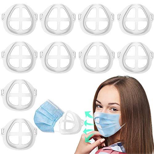 3D-Maskenhalterung, Nasenschutz, Nasenschutz, Lippenstift-Schutz, erhöht den Atmungsraum, hilft beim Atmen, 10 Stück