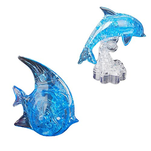 koolsoo Kinderparty Spielt Spaß Spielzeug D Kristall Puzzles Delphin & Fisch