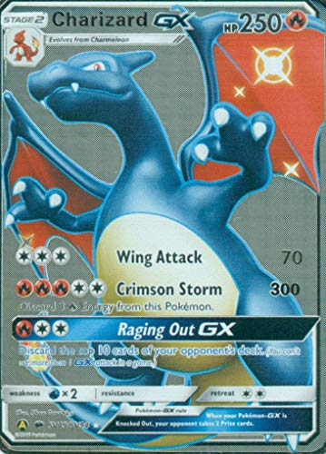 Silver Charizard GX Hidden Fates Custom Metal Pokemon Card - TCG CCG