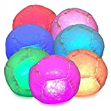 Disco Glow in The Dark LED Footbag Hacky Sack