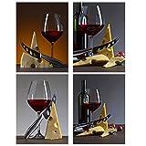 SWXXLY Poster Romantischer Rotwein im Glas und Käse,
