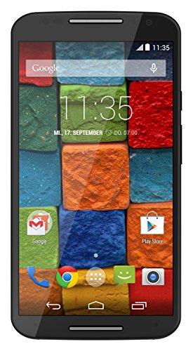 Motorola Moto X 2. Generation Smartphone (13,2 cm (5,2 Zoll) Full HD-Display, Touchscreen, 13 Megapixel Kamera, WiFi, 16GB interner Speicher, Android KitKat 4.4.4) schwarz
