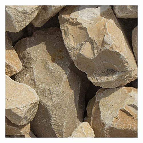 zierkiesundsplitt Yellow Sun Bruchsteine Gabionensteine, 40-60mm, Moderne Bruchsteine aus Kalkstein, in praktischen 20kg Säcken - Mindestbestellmenge 15 Stück