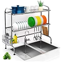 iBesi 2 Tier Over Sink Dish Drying Rack