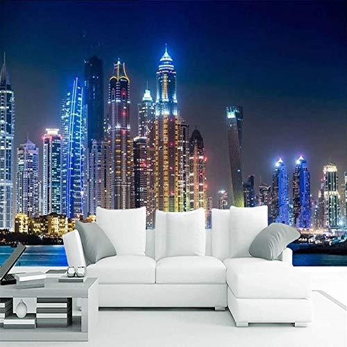 Papel pintado de pared personalizado de cualquier tamaño 3D ciudad noche paisaje pintura de pared sala de estar TV sofá decoración del hogar papeles de pared Papel de pared