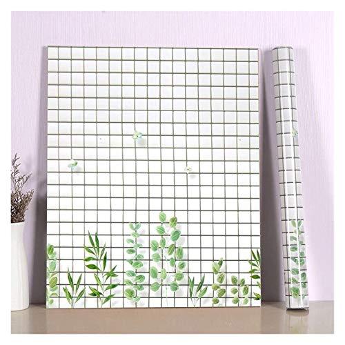 WHYBH HYCSP Küchenwandaufkleber Marmorcountertop Aufkleber Bad Selbstklebende wasserdichte Tapete (Color : Green Leaf Lattice, Size : 60cm x 5m)