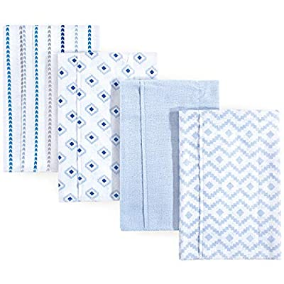 Hudson Baby Unisex Baby Cotton Flannel Burp Cloths, Boy Modern, One Size