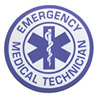 EMERGENCY MEDICAL TECHNICIAN Averyリフレクト加工 約5cm インサイド ステッカー