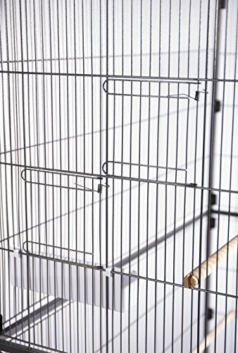 Prevue Hendryx Pet Products Wrought Iron Flight Cage, Large, Hammertone Black