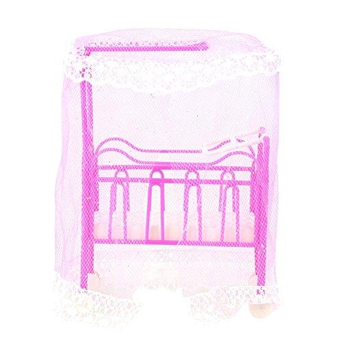 Domybest Baby Bett für kleine Kelly Puppen für Barbie Puppen Mädchen Spielzeug (zufällige Farbe)
