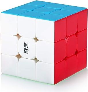Speed Cube 3x3 3x3x3 Stickerless Magic Puzzle Cube de Vitesse Magique Cadeau de Vacances pour Enfants Adultes (sans Autoco...