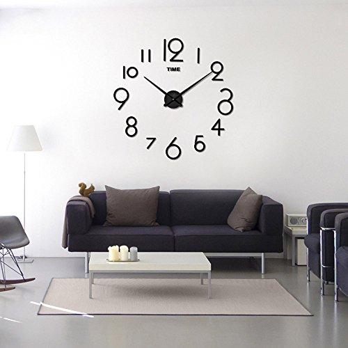 Zegeey Wanduhr Wohnzimmer DIY 3D Home Decoration Spiegel Große Kunst Design