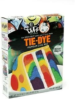 Duff Goldman, Tie-Dye, Premium Cake Mix, 18.25oz Box (Pack of 2) by Charm City Cakes