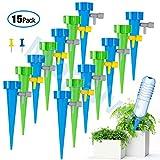 KKTICK Appareil d'arrosage Automatique, Plantes Irrigation Goutte à Goutte avec vannes de régulation, débit d'eau réglable,pour Jardin intérieur ou extérieur (Lot de 15)
