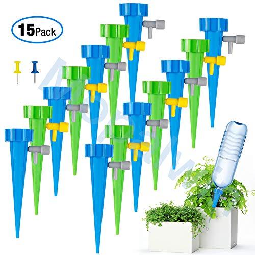 Automatisch Bewässerung Set,KKtick 15 Stück Einstellbar Bewässerungssystem Automatische Gartenbewässerung Tropfbewässerung und Sprinkler Bewässerung DIY Kit