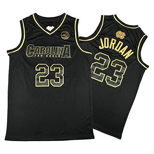 Michael Jordan Jersey, Chaleco para hombre y mujer, de Carolina del Norte, Swingman, negro, dorado, edición de la ciudad, camiseta de baloncesto (S-XXL)